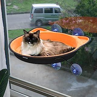 Likmond 猫爬山 猫床 猫床 窗户座位 花瓣垫 吸盘 节省空间 为猫咪提供*日光浴