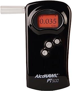 AlcoHAWK PT500 *分析仪,燃料电池传感器,警察级专业*酒精测试仪,便携式个人使用酒精检测器,准确快速结果,BAC 追踪器,带数字 LCD 屏幕