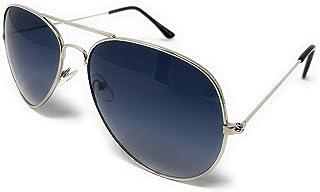 WebDeals - 飞行员银色镜面或彩色镜面金属框架太阳镜.