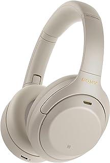Sony 索尼 WH-1000XM4 无线降噪头戴式耳机,带麦克风用于电话通话和Alexa语音控制,银色