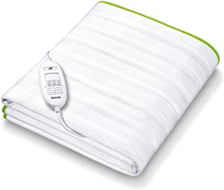 Beurer TS 15 电热毯 柔软羊毛材质 自动安全装置 具有3个温度档位 易于固定在床和床垫上 30⁰可水洗 150 x 80cm