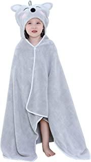 IDGIRLS 中性款婴儿浴巾幼儿超柔软动物连帽浴巾,适合男孩女孩,27.5 × 47 英寸,0-7 岁,考拉