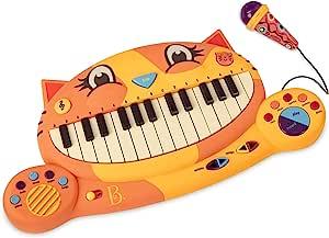 B. toys 玩具猫钢琴– 带麦克风的猫猫玩具钢琴,适合2岁以下的儿童使用
