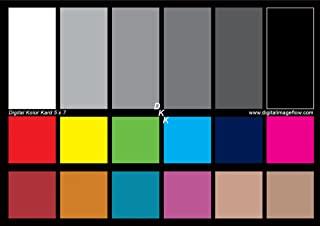 DGK 彩色工具 DKK 12.7 cm x 17.78 cm 2 件套白色平衡色和颜色校准图,12% 和 18% 灰色 - 包括支架和用户指南