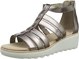 Clarks 女式 Jillian Nina 踝带凉鞋