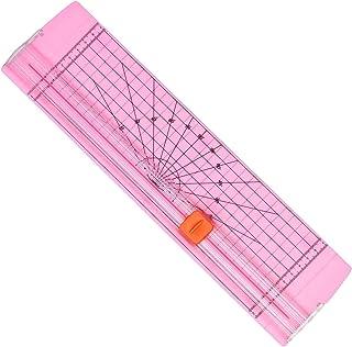AGPTEK 12 英寸(约 30.5 厘米)A4 纸张修剪器,带自动*保护,适用于剪贴簿、家庭、办公室和图片切割,标签设计,照片,粉红色