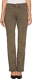 NYDJ 女士小号玛丽莲直筒牛仔裤,豪华 Touch 牛仔裤