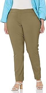SLIM-SATION 女式大码套穿直筒裤