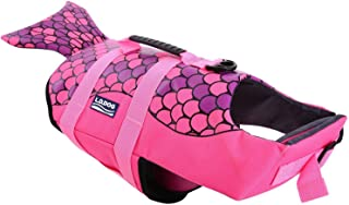 A-MORE 狗狗救生衣狗救生衣狗游泳背心可调节狗狗救生衣 Pink-Fish M