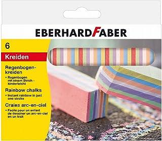 Eberhard Faber 526500 – 彩虹粉笔 6件,纸盒盒