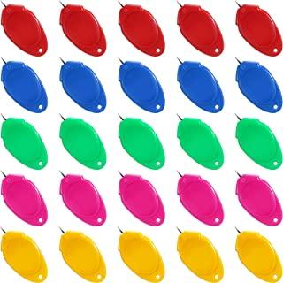 5 件针线器铁线简单穿线器塑料线圈 DIY 针线器手动机缝纫工具,用于手工缝纫手工用品,5 种颜色