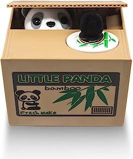 Matney® 盗窃硬币熊猫盒小猪银行熊 英国 言语,适合任何孩子