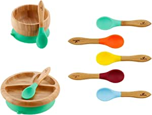 Infant Plates Parent Green Gift Set