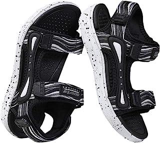 DADAWEN 男孩女孩夏季运动凉鞋户外徒步沙滩露趾可调节肩带水凉鞋