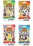 任天堂动物交叉卡卡系列 1、2、3、4 适用于 Nintendo Wii U 和 3DS,1 包(6 张卡片/包)(套装…