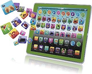 幼儿学习玩具,婴儿平板电脑学龄前儿童早期教育触摸板 有趣的学习数字 ABC 拼写动物