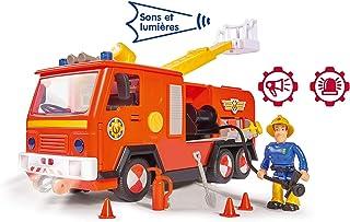 Smoby - 消防员山姆 - 木星消防车 + 1个人偶 - 声音和灯光 - 包括电池 - 109251038002WEB