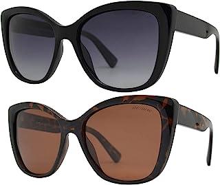 Be One 女式偏光太阳镜 - 猫眼复古经典复古时尚设计防紫外线镜片