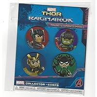 Marvel 雷神 雷神 Ragnarok 4 件装磁铁 雷神、绿巨型、Loki 和 Hela