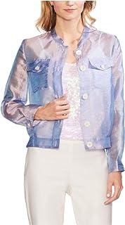 Vince Camuto 女式彩虹长袖外套 紫色 S 码
