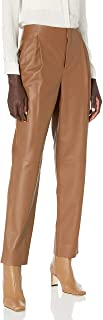 Vince 女式皮革锥形裤
