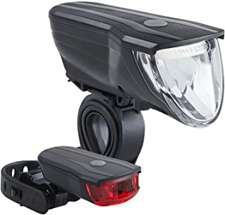 Büchel Vancouver Pro 51227500/51227502 LED 电池供电灯套装 70 Lux 德国道路交通条例批准自动控制灯 黑色/银色