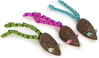 SmartyKat 魔法老鼠 猫咪玩具 压缩猫薄荷玩具 纯净 有效 无脏乱 带蝴蝶结 3 件套