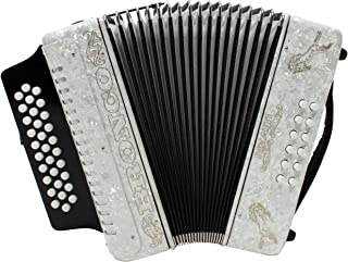 Rizatti Bronco RB31FW 全音阶手风琴 - 白色 - F/Bb/Eb