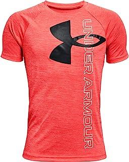 Under Armour Boys' Tech Split Logo Hybrid Short-Sleeve T-Shirt