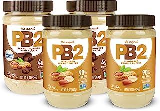 PB2 粉状花生酱和巧克力花生酱 1 磅(4 包)(每个口味2 包)