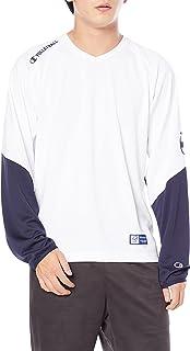 [Champion] 训练长袖T恤 减轻汗水 防粘性 吸水扩散 高透气 * 防臭 手写体徽标 排球Advance Line C3-UV421 男士