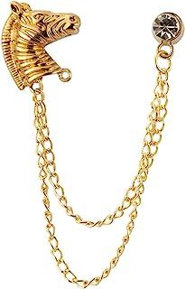 Knighthood 金马 带链条和 Swarovski 细节胸针