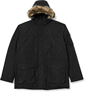 Regatta 男式 Salinger Ii 防水透气压条接缝保暖塔夫绸衬里连帽可拆卸人造皮毛饰边夹克