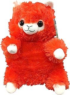 可爱羊驼(羊驼羊驼)毛绒背包 - 常规版带可调节肩带(橙色)