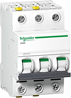 Schneider A9F04320 线路断路器 iC60N,3P,20A,C 特征,白色