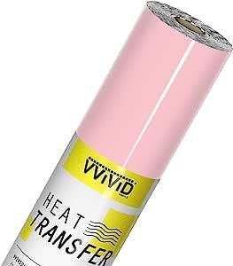 VVIViD V2 专业 HTV 传热膜熨烫乙烯卷 浅粉色 150ft x 12in newv2htv_ltpnk150