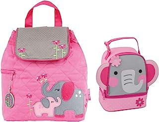 Stephen Joseph 绗缝大象背包和女孩午餐伙伴