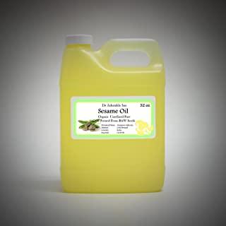 芝麻籽油 来自未精炼的冷压 32 盎司/1 夸脱