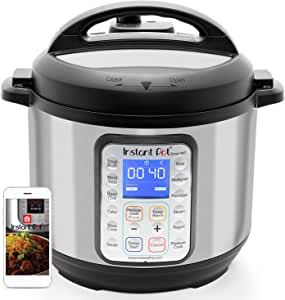Instant Pot 智能WiFi 6夸脱/约5.676升多用电压力锅,慢速,电饭煲,酸奶,蛋糕制造机,炒锅,蒸锅和加热,银