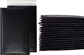 White Gator Supplies 50 CT Poly Bubble Mailers 可用空间为 20.32 厘米 x 25.40 厘米,Poly Mailer 气泡衬里信封聚酯邮寄袋用于邮寄、运输、包装和剥开和密封(黑色,12.70 ...