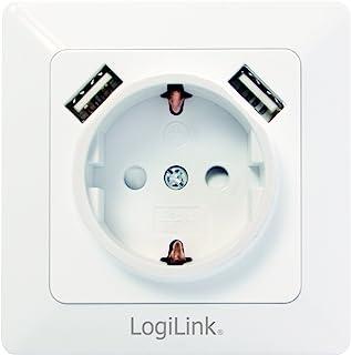 LogiLink PA0163 插座盒 白色 PA0162