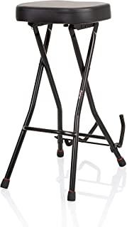 Gator Frameworks 可折叠吉他凳,带软垫座椅和后置吉他挂钩; (GFW-GTRSTOOL)