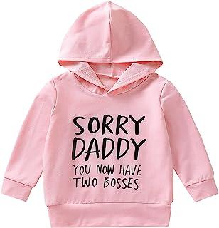 幼儿女婴连帽衫时尚 Boss 字样字母印花长袖宽松连帽上衣