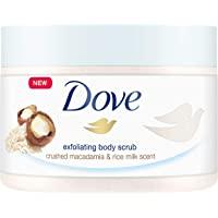 Dove 多芬 身体磨砂膏 澳洲坚果和米奶,4个月使用量(4 x 225毫升)