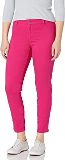 Calvin Klein 女式 4 口袋斜纹弹力裤