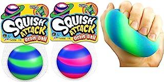 JA-RU 弹力球 * 沙填充球 适合儿童和成人 ( 1 个组合 ) 手部*压力球 挤压和拉伸。 5558-1 2 Units Squish Attack Orbit