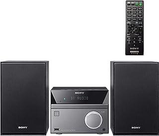 SONY 索尼 紧凑型立体声音响系统,带有蓝牙无线流NFC,Micro Hi-Fi 50W,带有独立扬声器的CD / DVD播放器,FM收音机,Mega Boost,USB播放和充电,遥控器