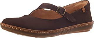 El Naturalista 女士 N5314 舒适棕色/珊瑚色 Mary Jane 平底鞋