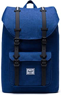 Herschel Little America 笔记本电脑背包 Eclipse Crosshatch/Silver Reflective Rubber Insert Mid-Volume 17.0L