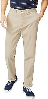 Nautica 男士经典版型平前弹力实心斜纹甲板长裤